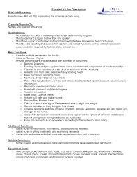 Sample Lpn Nursing Resume Lpn Job Description For Resume Free Resume Example And Writing
