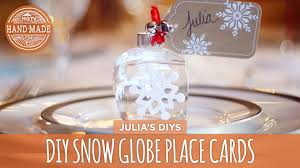 diy snow globe place cards hgtv handmade youtube