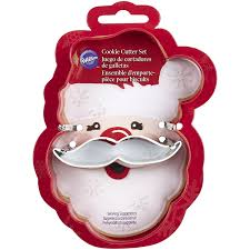 amazon com metal cookie cutter set 2 pkg santa face kitchen u0026 dining