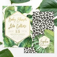 lila safari jungle glam baby shower invitation leopard print