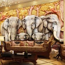 compare prices on elephant murals online shopping buy low price tree elephant animal photo wallpaper murals for tv background wall art decor wall sticker wall paper