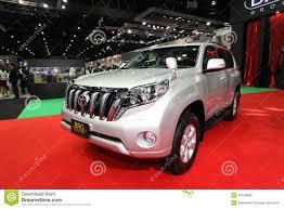 White Toyota Land Cruiser Prado Car Editorial Stock Photo Image