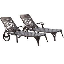 Chaise Lounge Chairs Amazon Com Home Styles Biscayne Chaise Lounge Chair Black Patio