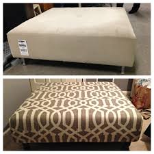 Upholstering An Ottoman 22 Ottoman From Goodwill A Shower Curtain 3 Hours And A
