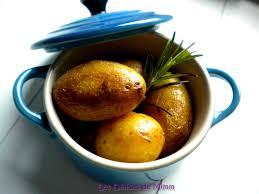 cocotte terre cuite cocotte de pommes de terre grenailles au romarin les délices de mimm