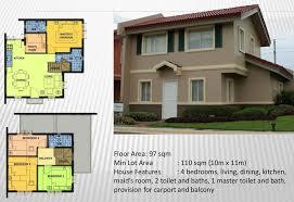 Camella Homes Drina Floor Plan Elaisa 97 Sqm Real Estate Roxas City Philippines