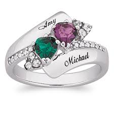 mothers day ring 1 194 shop day rings personalized heart s with birthstones