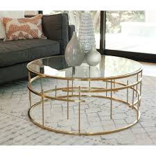 esme brushed gold coffee table the khazana home austin furniture