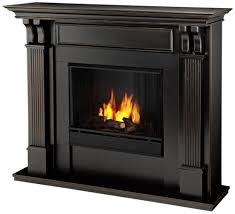 amazon com calie gel fireplace in mahogany black wash home