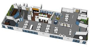 3d Office Floor Plan Spectrum Workplace Modern Office Design For An Aviation Safety Company
