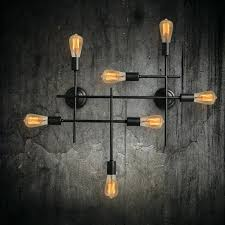 Unique Wall Sconces Industrial Wall Lights Black 1 Light Metal L Sconce Fixture