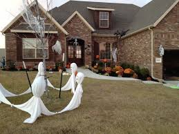 simple halloween garden decor diy ghost spider web jack o lantern