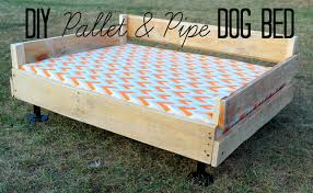 Making A Platform Bed From Pallets by Diy Pallet U0026 Pipe Dog Bed Tutorial