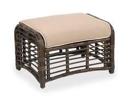 maui aluminum u0026 woven resin wicker ottoman chair king