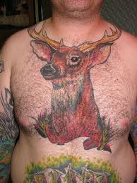 brown ink deer on chest photos pictures and sketches