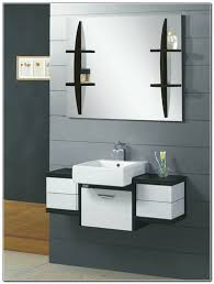 bathroom decoration photo concept black cabinets and storage units