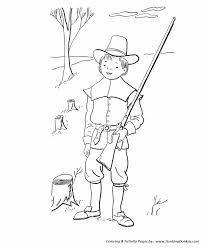 fall coloring pages kids fall pilgrim boy coloring sheets