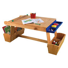 Kidkraft Outdoor Picnic Table by Kidkraft Art Table With Drying Rack And Storage 26954 Ebay