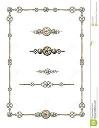 steunk frame selection of ornaments stock illustration