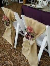 Cheap Wedding Chair Covers Just A Thought Burlap Bags Are Cheap And This Combo With Ribbon