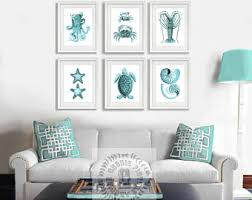 Turquoise Living Room Decor Turquoise Decor Etsy