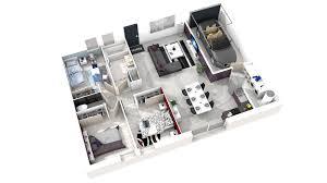 chambre en 3d plan de maison simple 3 chambres en 3d