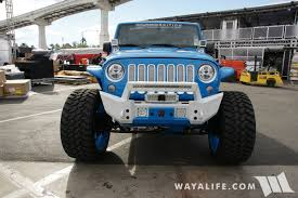 jeep willys white sema 2016 sobecustoms blue white jeep jk wrangler unlimited