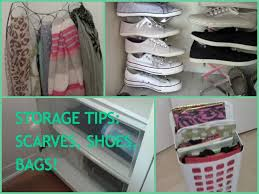 shoes bags scarves organization and storage tips youtube