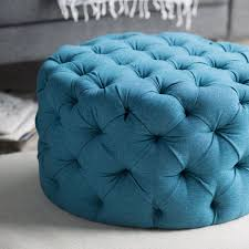 belham living allover round tufted ottoman teal hayneedle