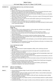 call center resume call center manager resume sles velvet