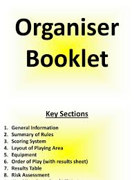 organiser booklet weebly info referee sports rules and regulations