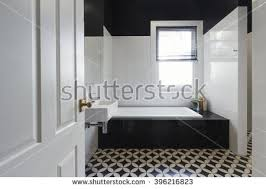 tile designs for bathrooms marble mosaic herringbone tiled shower feature stock photo