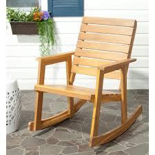 Aluminum Folding Rocker Lawn Chair by Safavieh Alexei Natural Brown Acacia Wood Patio Rocking Chair