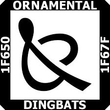 block ornamental dingbats codepoints