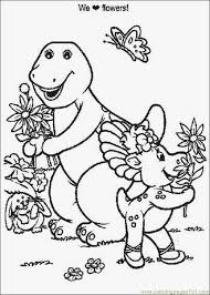 barney 00 coloring free barney coloring pages
