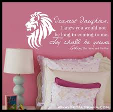 dearest daughter joy shall be yours aslan narnia cs lewis dearest daughter joy shall be yours aslan narnia cs lewis vinyl wall