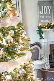 French Christmas Decorations Rustic Chic Christmas Home Tour