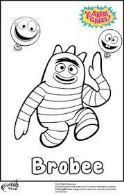 yo gabba gabba kleurplaten voor kinderen kleurplaat en afdrukken