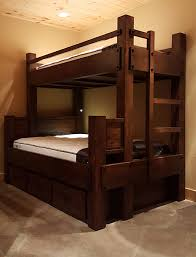 twin xl over full xl bunk bed shown with optional headboard goose