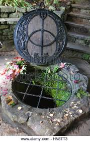 ceremonial chalice chalice well gardens glastonbury somerset uk stock photo royalty