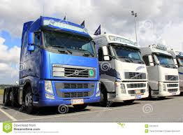 volvo lorry row of volvo trucks editorial image image 33370375