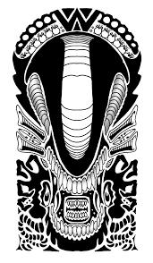 alien polynesian tribal design by yayzus tattoo ideas