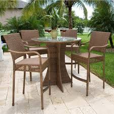 Plastic High Back Patio Chairs Plastic High Top Patio Table Set Sorrentos Bistro Home