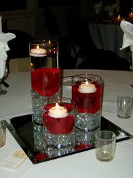wedding centerpiece ideas red and black decorating of party