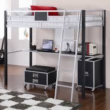 wonderful metal loft bed with desk combo metal loft bed with