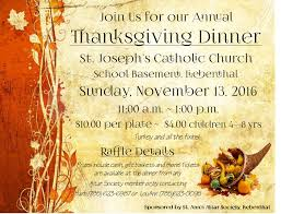 liebenthal thanksgiving dinner will be nov 13