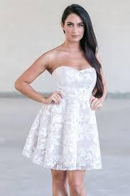 cute off white rehearsal dinner dress bridal shower party dress