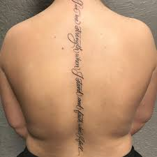 75 best spine tattoos for and designs meanings 2018