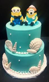 minion wedding cake topper 2 tier turquoise wedding cake with minion groom