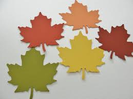 lovelypubichair com autumn fall paper leaf leaves paper cut outs cutouts scrapbook